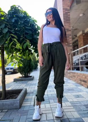 Женские летние брюки на завязках