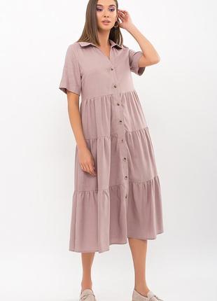 Льняное платье свободного кроя (4 цвета)* отличное качество