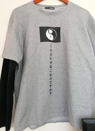 Крутой лонгслив в японском стиле