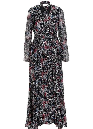 Шифоновое макси платье.