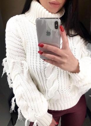 Оверсайз -свитер с горлом