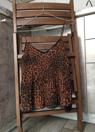 Zara trafaluc леопардовый топ