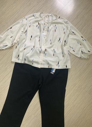 Оригинальная блуза большого размера