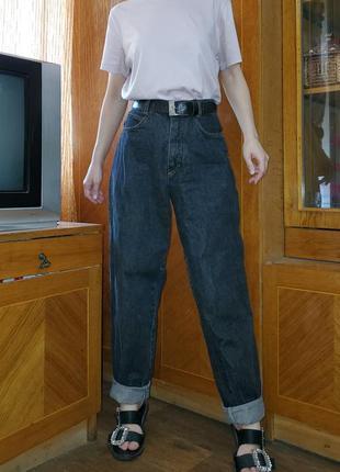 Итальянские винтажные джинсы бананы мом италия