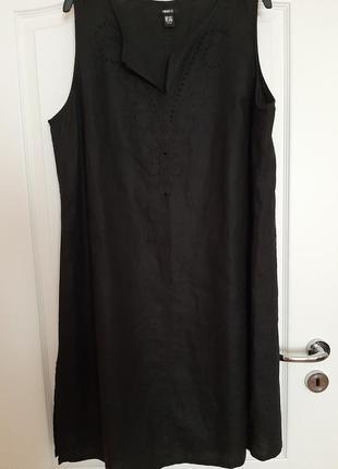 Платье лен на пани +size