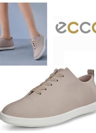 Новые кожаные кроссовки мокасины экко ecco leisure оригинал р.43