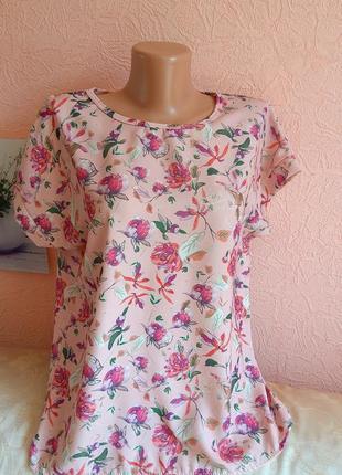 Красивая легкая блуза футболка  акция 1+1 =3
