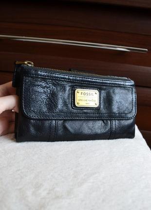 Fossil кожаный кошелек портмоне.