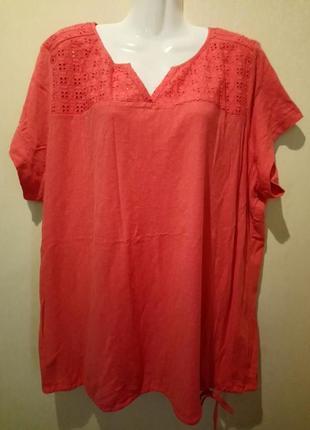 🌺 🌿 🍃 качество 💣 футболка /блуза хлопок /большой размер 🌺 🌿 🌼