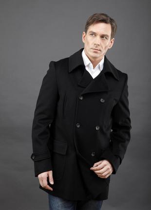 Бушлат двубортный укороченный мужской lana wooll новый s