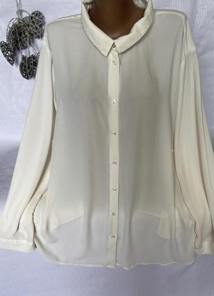 Шикарная воздушная , рубашка , блуза , большого размера