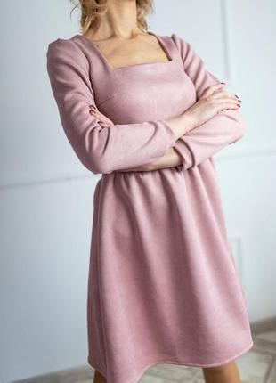 Замшевое платье: 42-44, 46-48