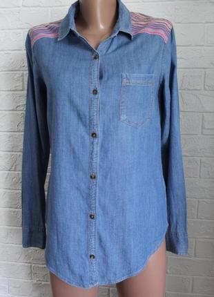 Джинсовая рубашка hollister идеальном состоянии xs-s