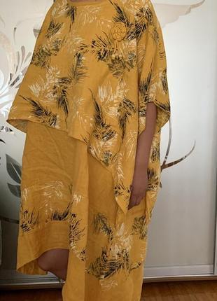 Льняное платье льняное бохо лён италия