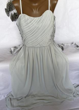 Шикарное нежное платье в пол