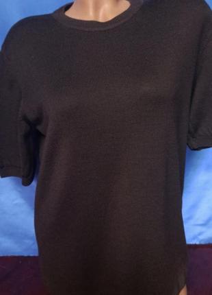 Брендовый шерстяной свитер, джемпер с коротким рукавом peter hahn, из 100% тасманской шерсти