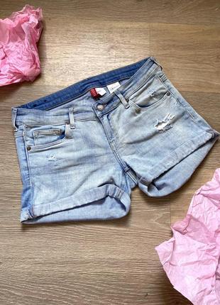 Шорты джинсовые с подкатами