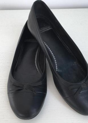 Vagabond кожаные балетки с бантиком1 фото
