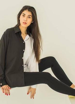 Женская двухцветная рубашка
