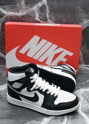 Женские кроссовки nike air jordan кожаные, высокие, белые