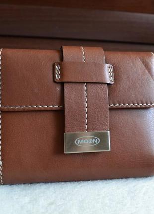 Moon swiss design кожаный кошелек портмоне. швейцария