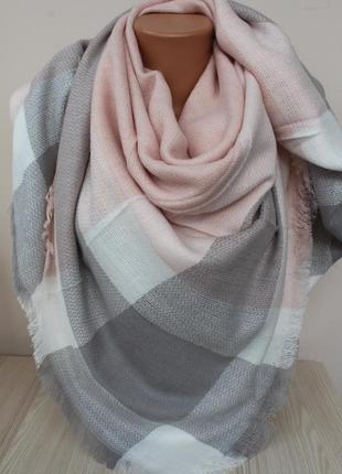 Теплый платок  -плед - шарф 140х140 см