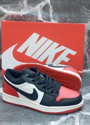 Женские кроссовки nike air jordan 1 retro кожаные, черные