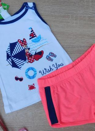 Комплект майка и шорты для девочки