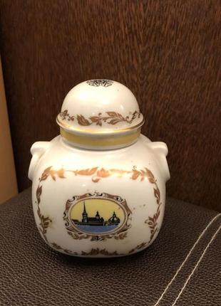 Чайница фарфоровая (баночка для чая/специй) ленинградский лфз
