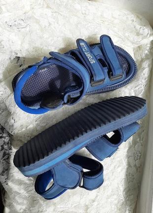 Синие босоножки , верх на любую полноту, 38р-р.
