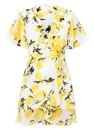 Шикарное шифоновое платье 36-38