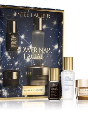 Косметический набор estée lauder power nap facial set + 🎁 подарок шарф на выбор