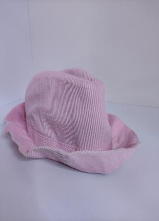 Розовая вельветовая шляпа велюровая шляпка для девочки