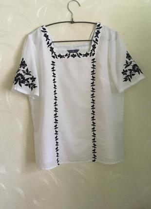 Блузка с вышивкой tu premium collection р-р.m-l