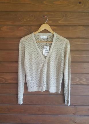 Новый ажурный кардиган накидка блуза mango размер m распродажа