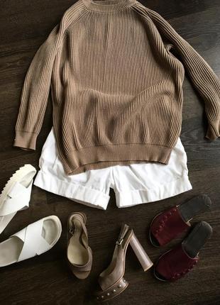 Роскошный вязаный свитер rene lezard