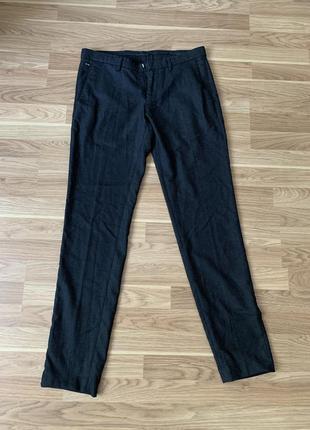 Классические чёрные мужские брюки зара