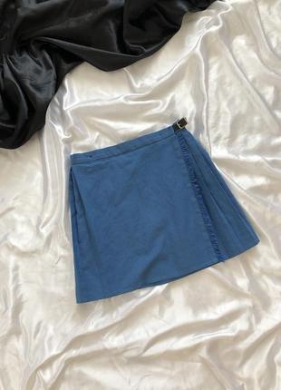 Плиссированная школьная мини юбка
