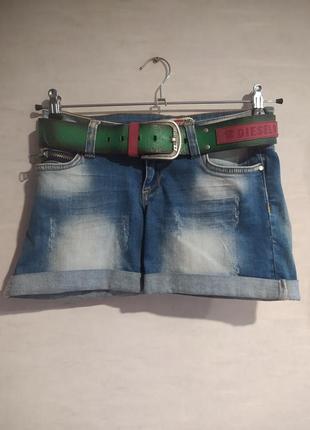 Женские шорты diesel в комплекте с ремнём