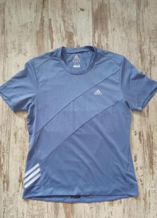 Футболка для спорта синяя удобная climcool clim365 adidas