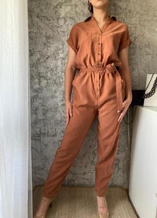 Стильный комбинезон рубашка с поясом casual collection by f&f