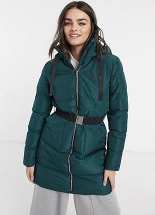 Пуховик зима с бирками стильный новый бренда ax paris куртка оригинал с капюшоном