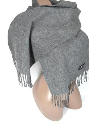 🔥обнова🔥100% шерсть теплый базовый шарф серого цвета под любой образ
