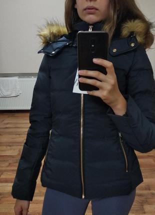 Куртка пуховик zara