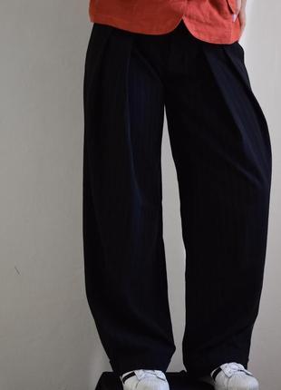 Malloni широкие брюки итальянские италия палаццо прямой крой в полоску