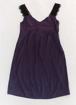 Шелковое платье с кружевом dorothee schumacher