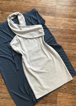 Вечернее платье под замш с нюансом (s/m)
