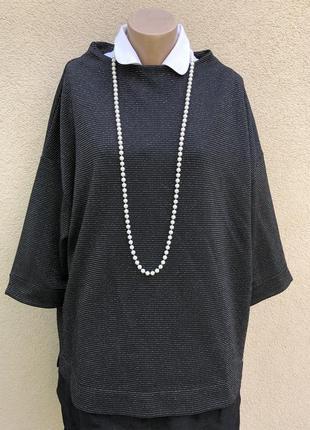 Блуза из плотной,трикотаж ткани,кофточка,большой размер,