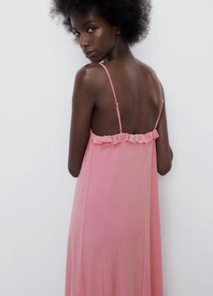 Сарафан розовый : платье на тонких бретельках