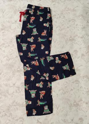 Уютные фланелевые штанишки для дома для сна в прикольный принт сша